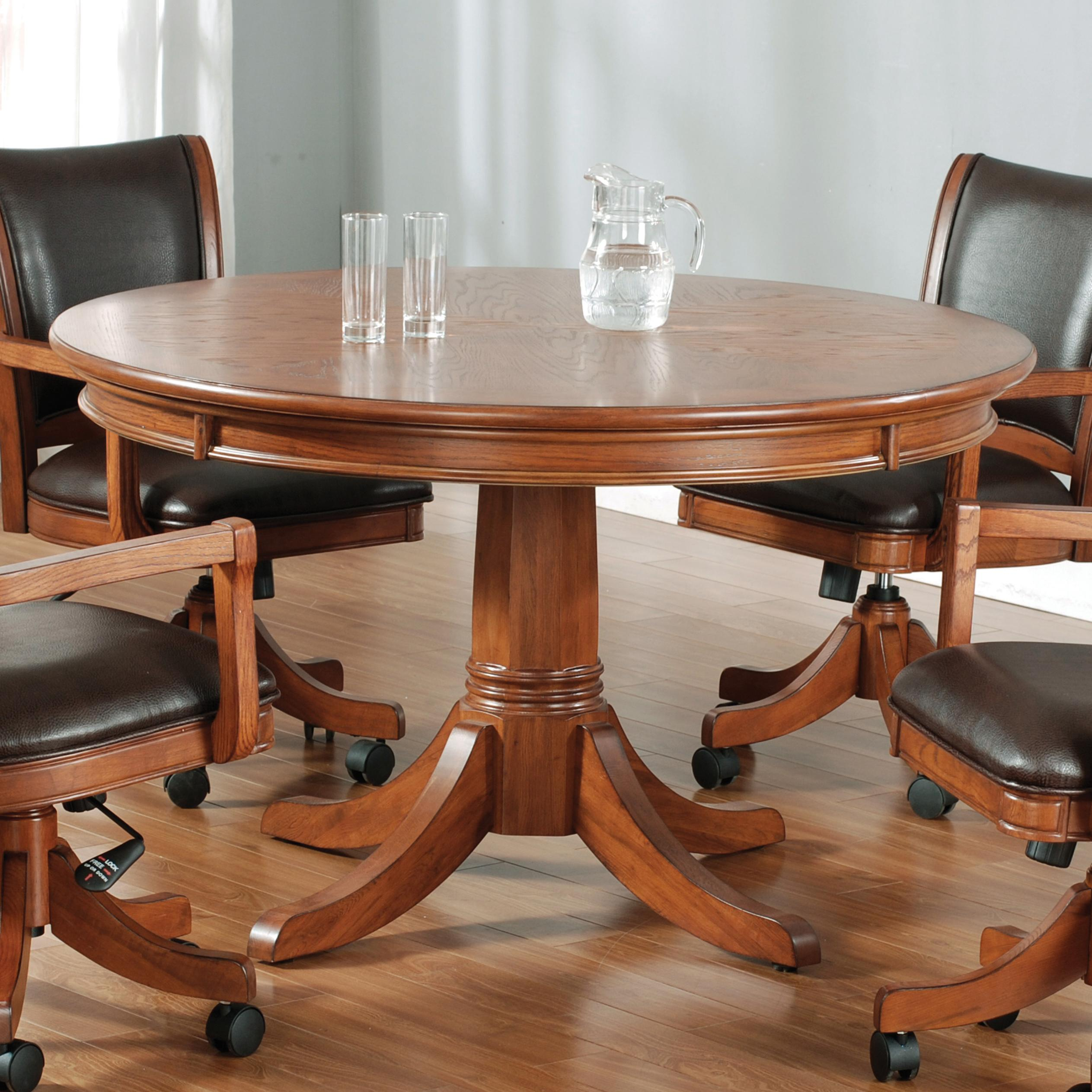 Round Flip Top Gaming Dining Table by Hillsdale