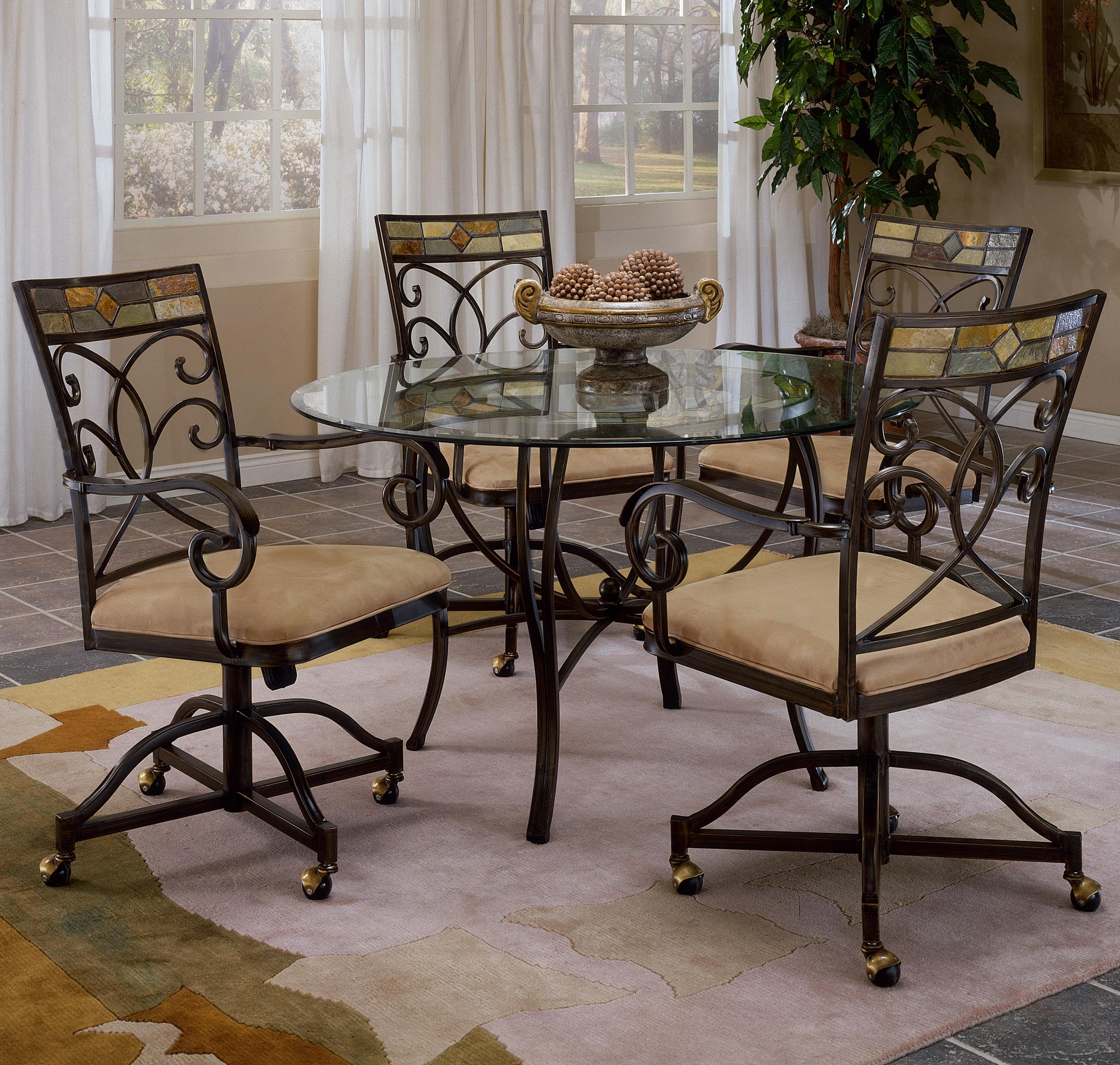 Slate Accented Dining Chair with Casters by Hillsdale | Wolf and ...