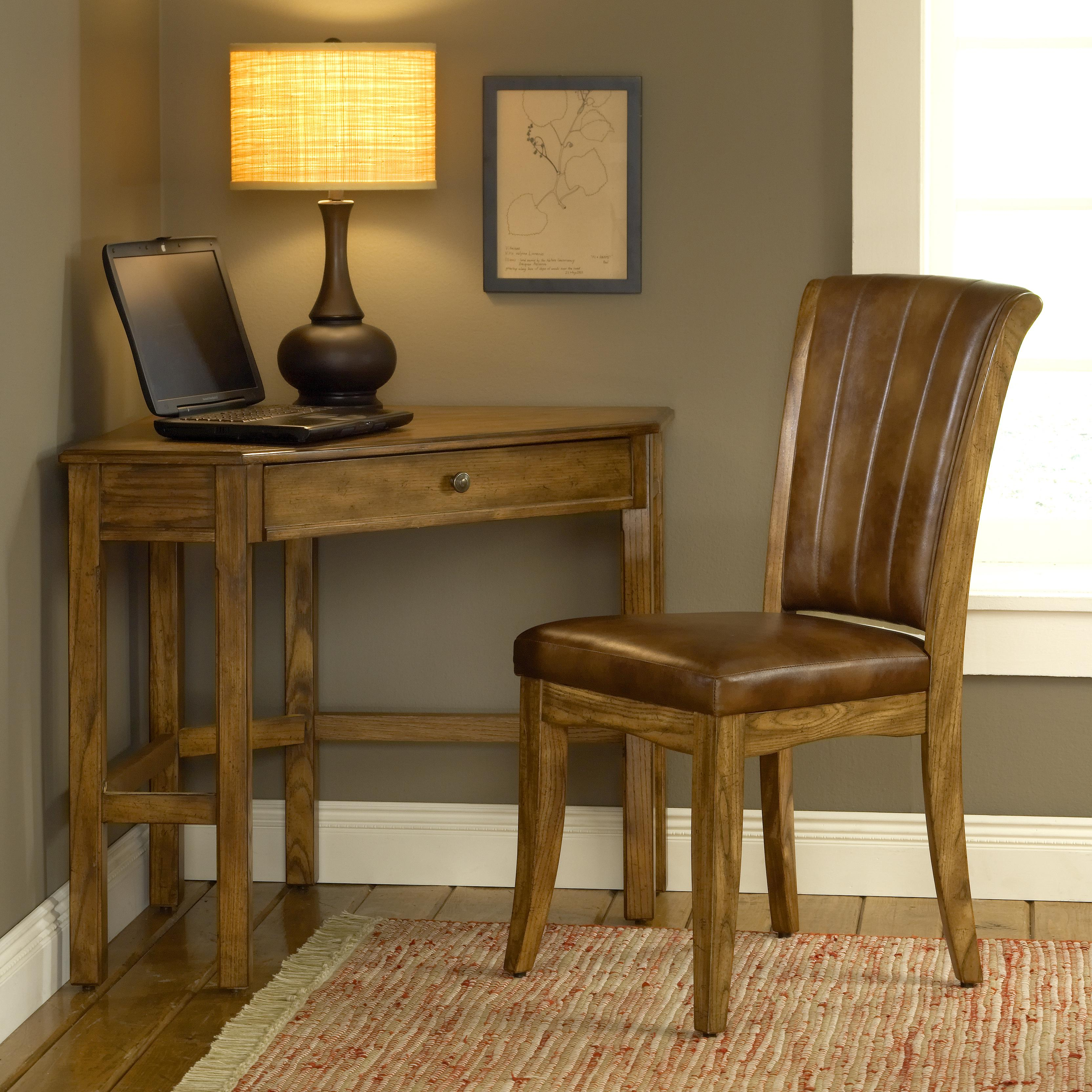 Corner Desk With Rich Oak Or Cherry Finish