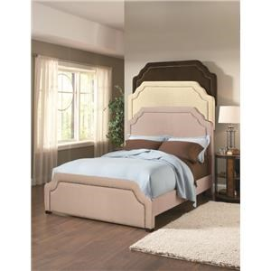 Taupe Upholstered Queen Bed