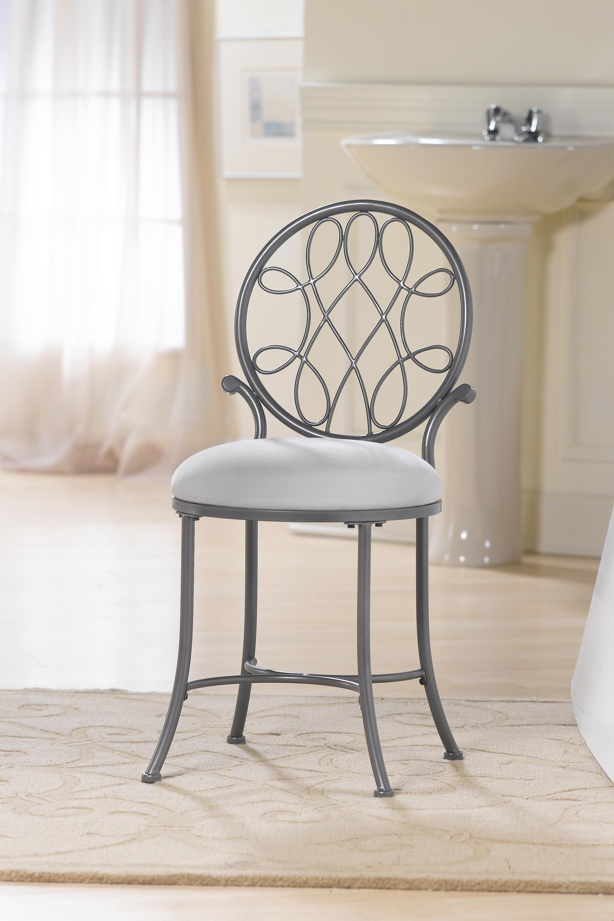 O Malley Vanity Stool With A Knot Design By Hillsdale