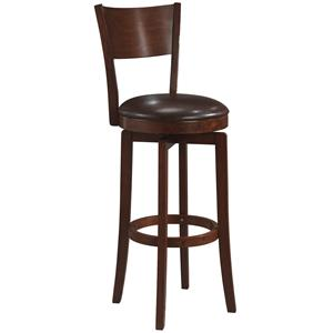 "Hillsdale Wood Stools 24.5"" Counter Height Archer Swivel Stool"
