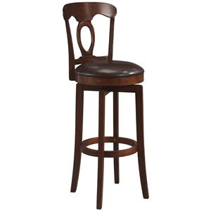 "Hillsdale Wood Stools 30"" Bar Height Brown Corsica Stool"