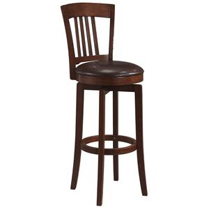 "Hillsdale Wood Stools 30"" Bar Height Canton Swivel Stool"