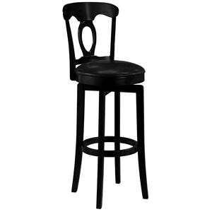 "Hillsdale Wood Stools 24.5"" Counter Height Black Corsica Stool"