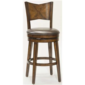 "Hillsdale Wood Stools 30.5"" Bar Height Jenkin Swivel Bar Stool"