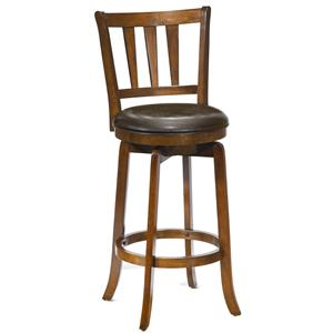 "Hillsdale Wood Stools 26"" Counter Height Presque Isle Swivel Stool"