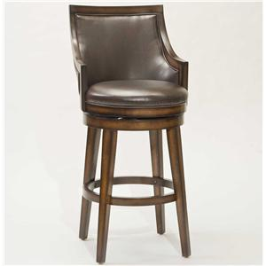 "Hillsdale Wood Stools 30"" Bar Height Lyman Swivel Stool"