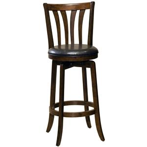 "Hillsdale Wood Stools 26"" Counter Height Savana Swivel Bar Stool"