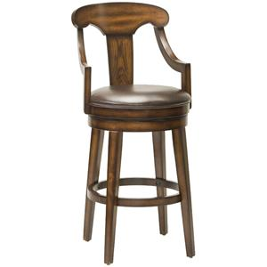 "Hillsdale Wood Stools 26.5"" Upton Swivel Counter Stool"