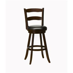 Hillsdale Wood Stools Eastpointe Swivel Counter Stool