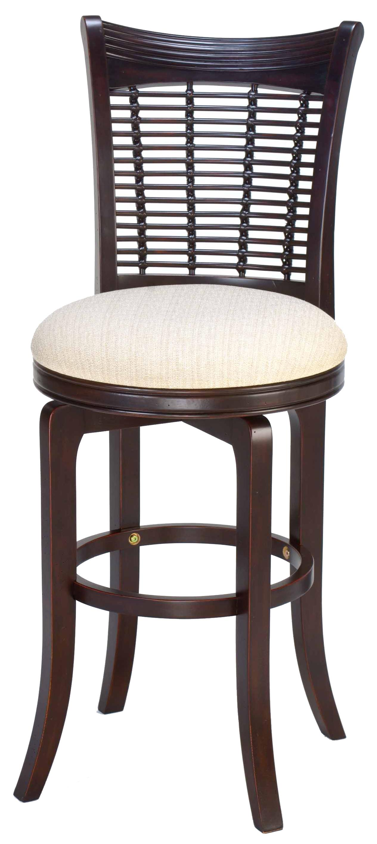 30 Quot Bar Height Bayberry Wicker Swivel Stool By Hillsdale