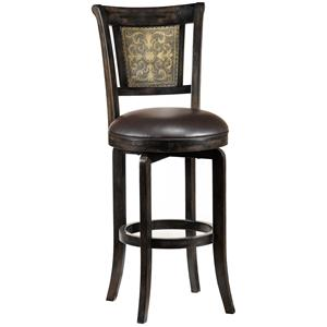 "Hillsdale Wood Stools 26.5"" Counter Height Camille Swivel Stool"