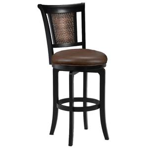 "Hillsdale Wood Stools 30"" Bar Height Cecily Swivel Stool"