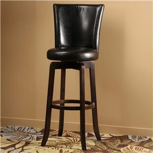 Hillsdale Wood Stools Copenhagen Swivel Counter Stool
