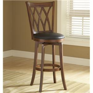"Hillsdale Wood Stools 24"" Counter Height Mansfield Swivel Stool"