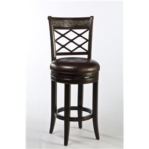 Hillsdale Wood Stools Spalding Swivel Counter Stool