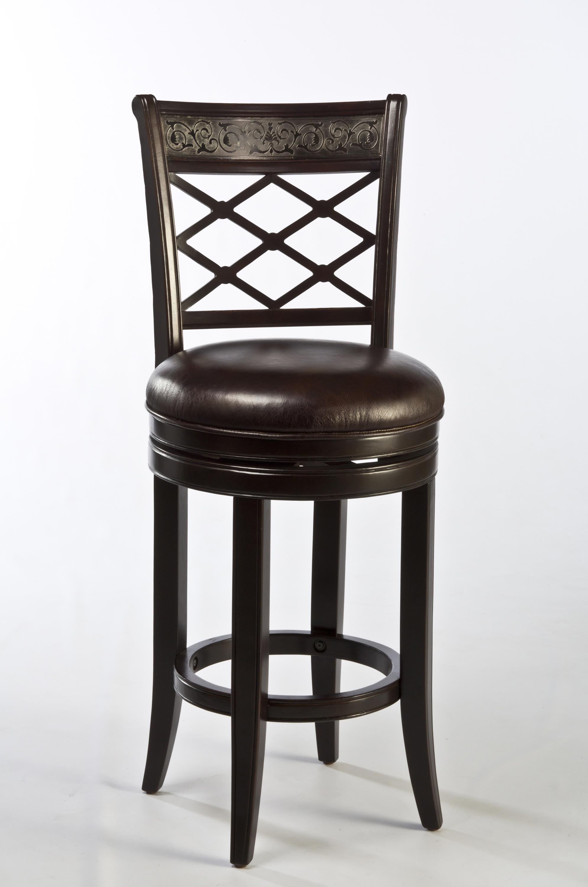 Spalding Swivel Bar Stool With Etched Pattern By Hillsdale Wolf And Gardiner Wolf Furniture
