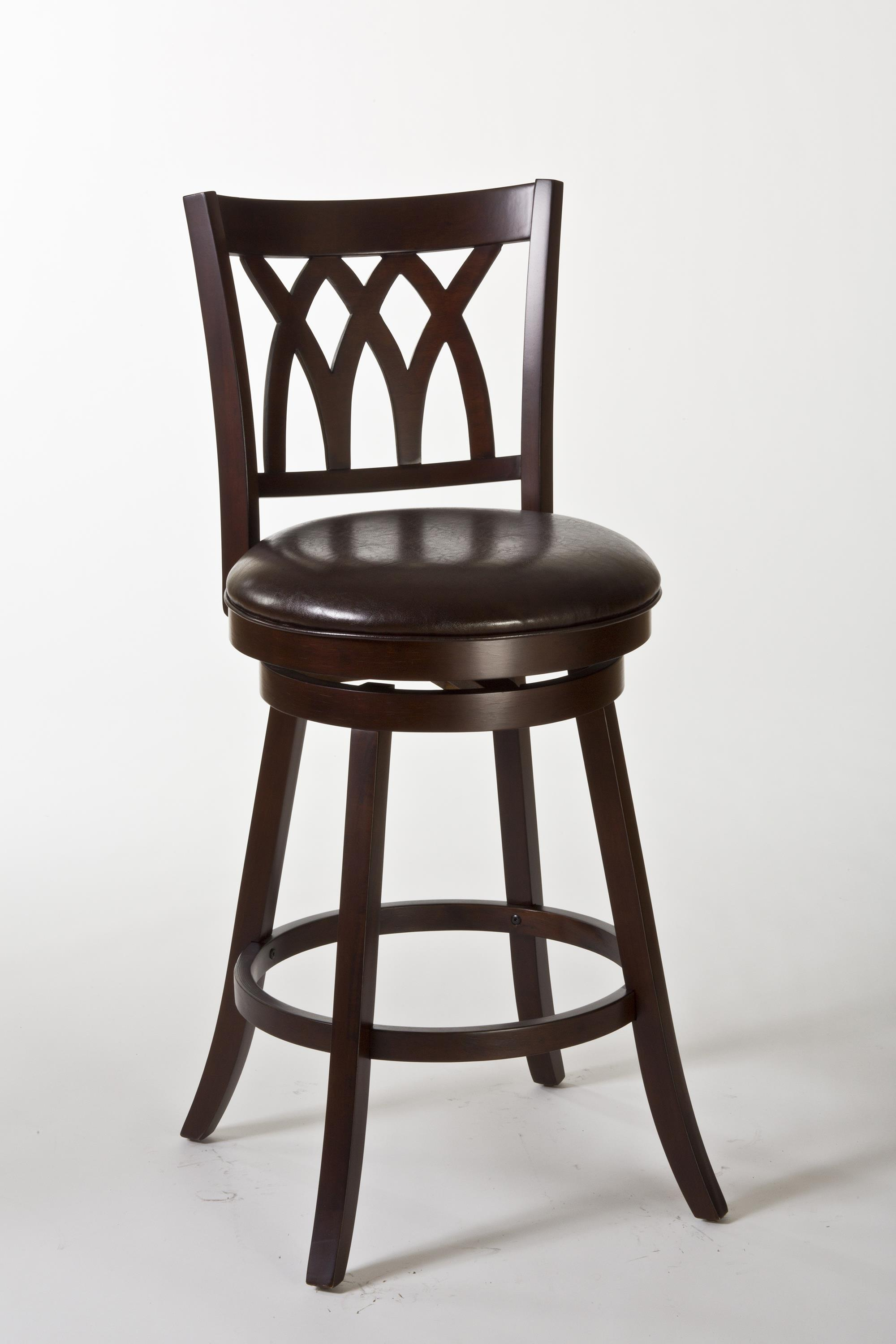Tateswood Swivel Counter Stool With Designed Back By