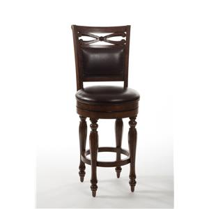 Hillsdale Wood Stools Hamilton Park Swivel Bar Stool