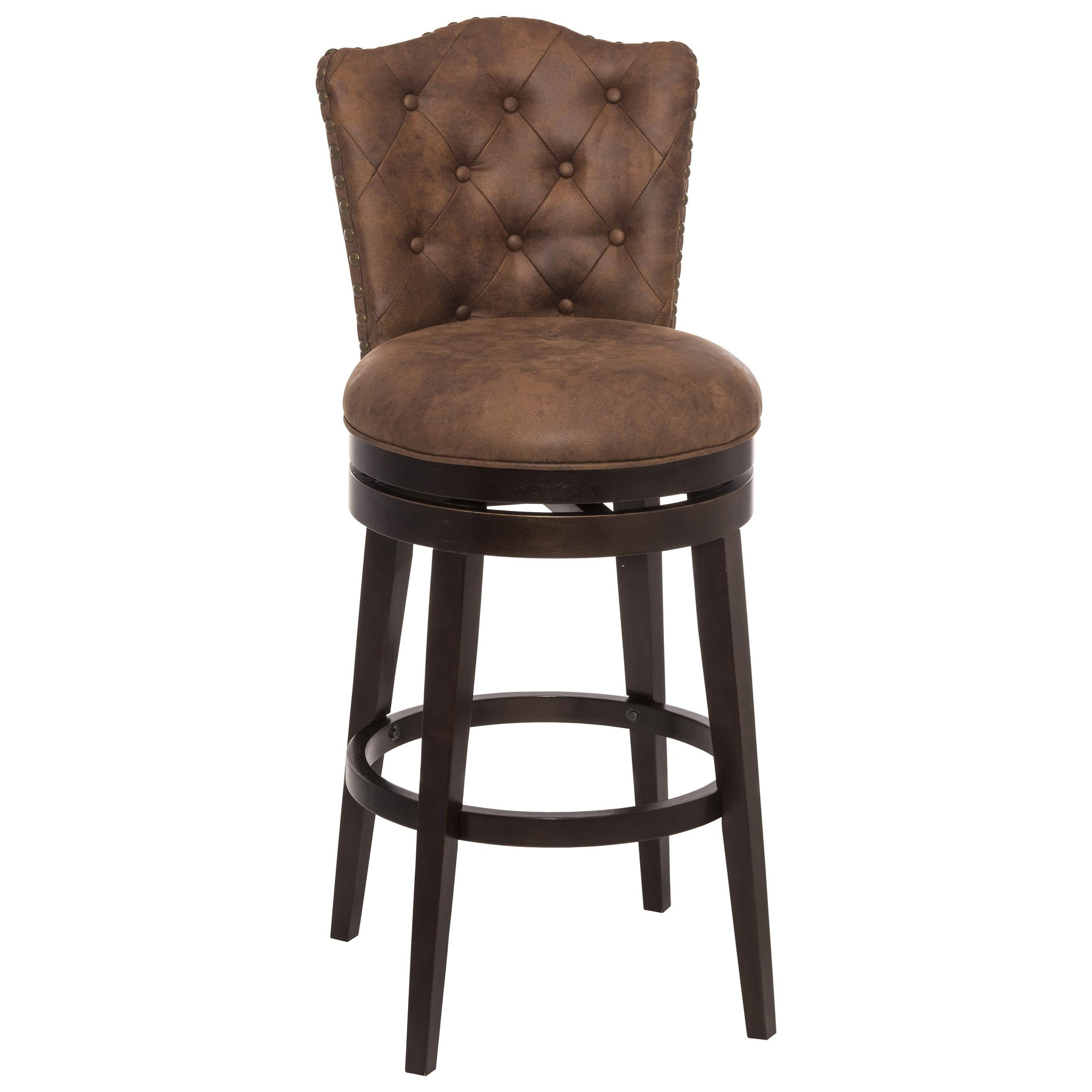 Swivel Counter Stool With Upholstered Seat By Hillsdale