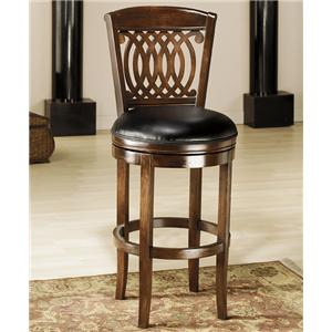 "Hillsdale Wood Stools 30"" Bar Height Vienna Swivel Stool"