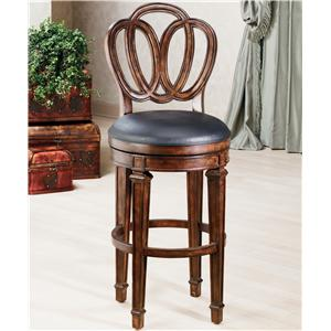 "Hillsdale Wood Stools 24"" Counter Height Dover Stool"
