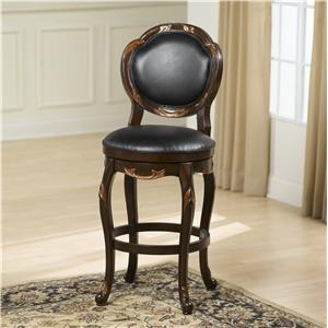 Hillsdale Wood Stools Alaina Swivel Bar Stool
