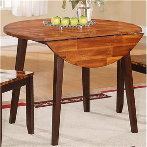 "Holland House Greer Round Table with Two 8.5"" Drop Leaves"