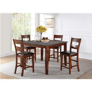 Holland House 1279-BLUE Gathering Table and 4 Chairs
