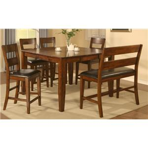 Holland House 1279 6 Piece Counter Height Dining Set