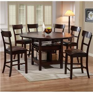 Holland House Cory Cory Table + 4 Stools Set