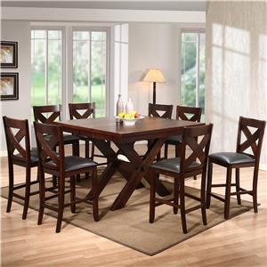 Holland House Colton Colton Table + 4 Stools Set