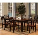Holland House Adaptable Dining Rectangle Leg Table - Shown With Side Chairs
