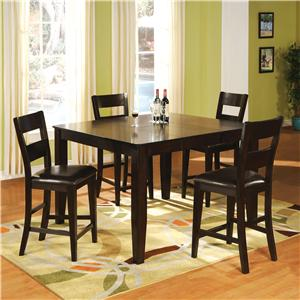 Holland House Willis Willis Counter Table + 4 Stools Set