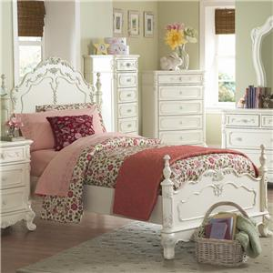 Homelegance 1386 Twin Victorian Low Post Bed