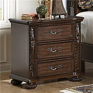 Homelegance Emery 3 Drawer Nightstand