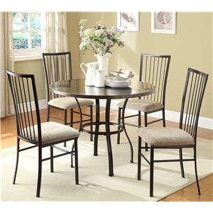 Homelegance Carlson 2511 5-Piece Table and Chair Set