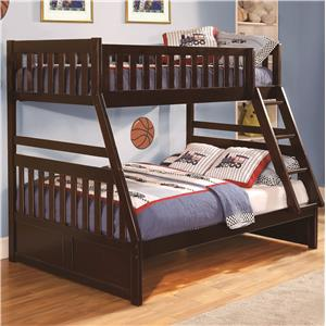 Homelegance Rowe Twin Over Full Bunk Bed