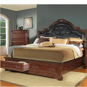 Homelegance Silas  Queen Sleigh Bed