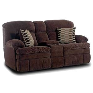 HomeStretch 103 Chocolate Series Console Loveseat