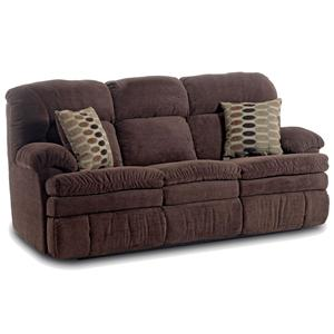 HomeStretch 103 Chocolate Series Double Reclining Sofa