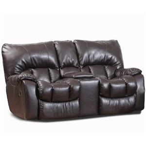 HomeStretch 118 Transitional Reclining Loveseat