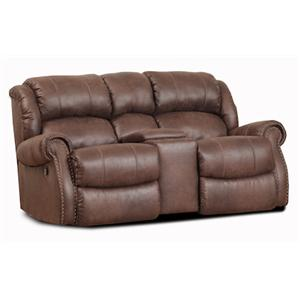 Rocking Console Loveseat w/ Nailhead Trim