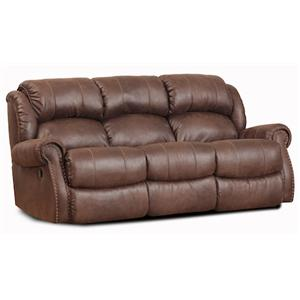 Casual Faux Leather Double Reclining Sofa