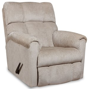 Casual Style Plush Rocker Recliner