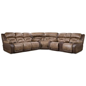 Power Reclining Sectional with Storage Console