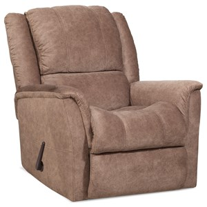 Casual Rocker Recliner with Contrast Stitching