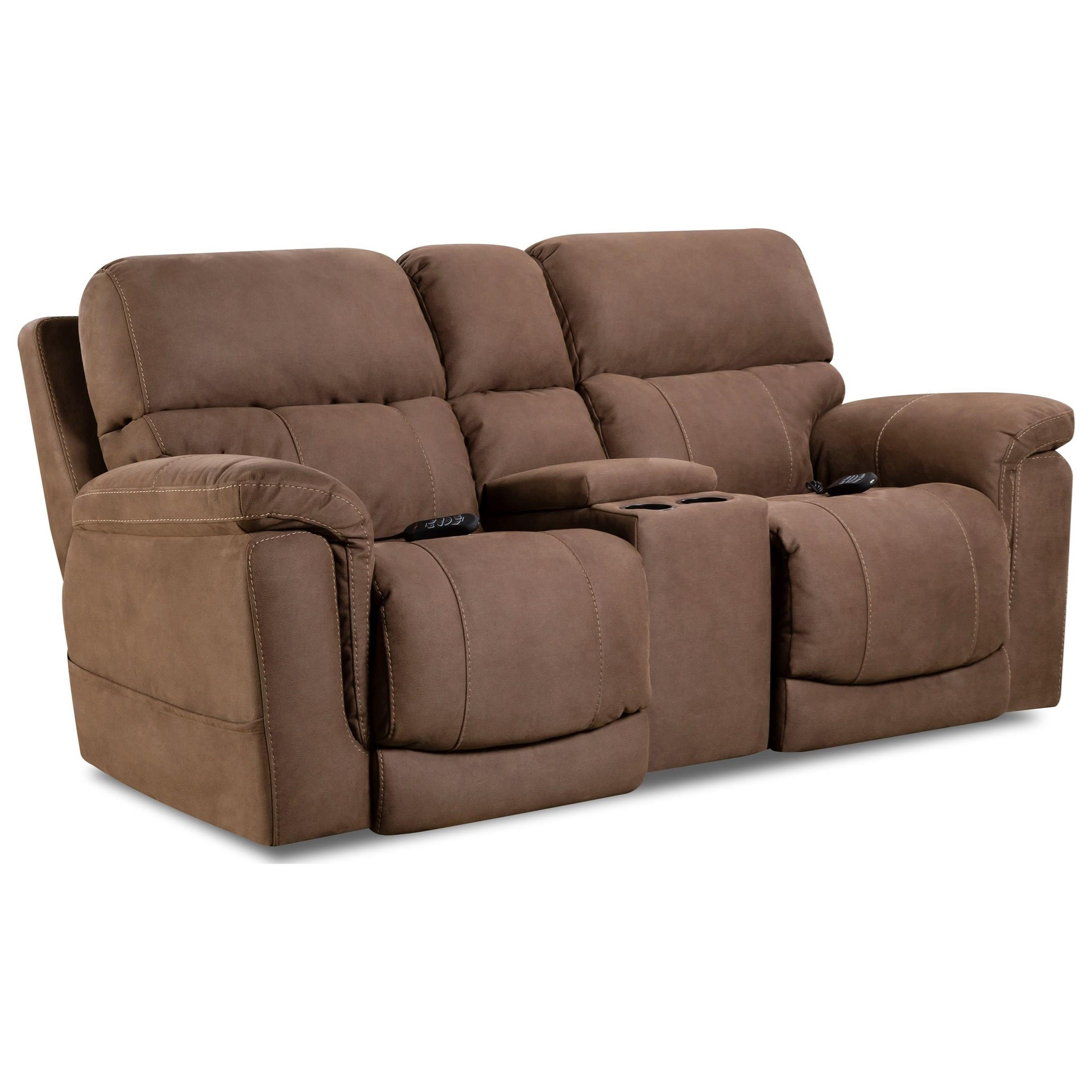 Power Reclining Loveseat With Center Console By