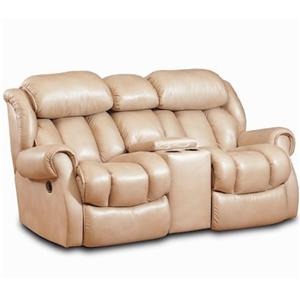 HomeStretch Cody Casual Rocking Recliner Loveseat